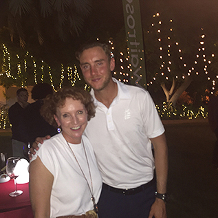 Clair and Stuart Broad
