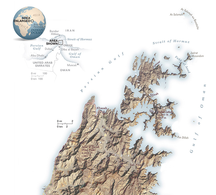 Musandam Peninsula Map