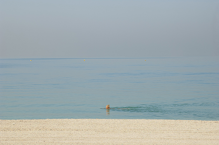 Swimmer on Jumeirah Beach